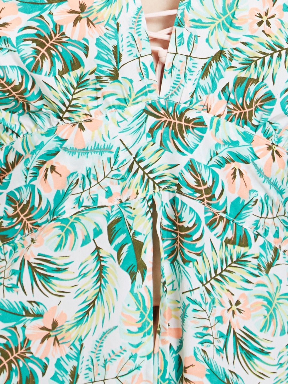 c781cc2100716 Buy The Beach Company Women Green Printed Cover Up Maxi Dress ...