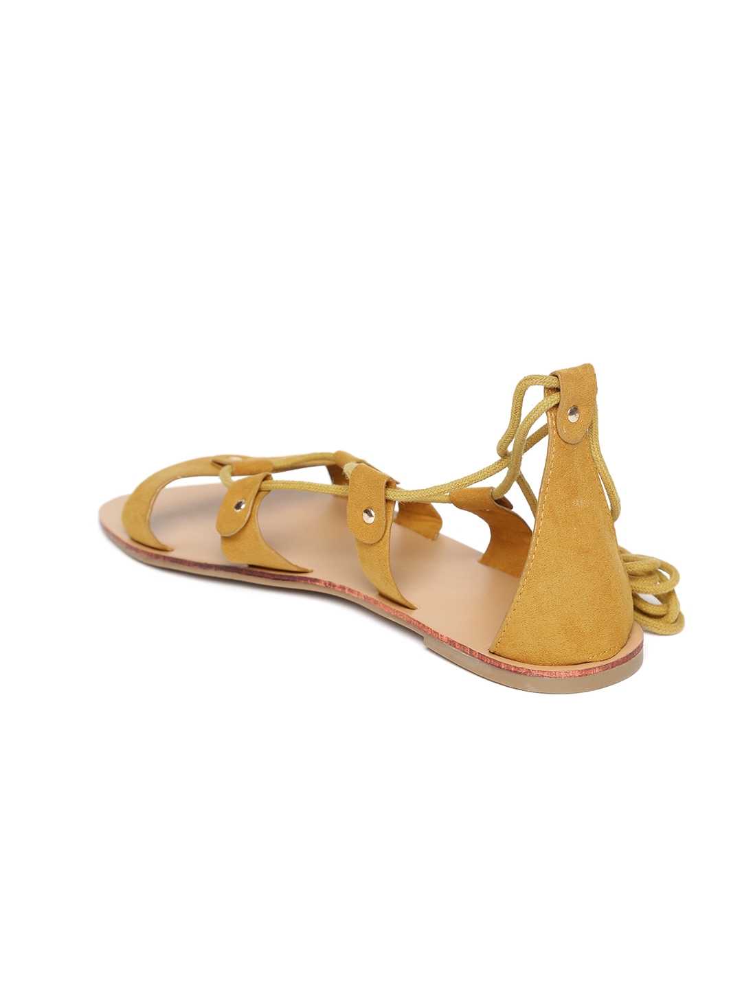 0e07d94cb22e5 Buy FOREVER 21 Women Mustard Yellow Solid Open Toe Flats - Flats for ...