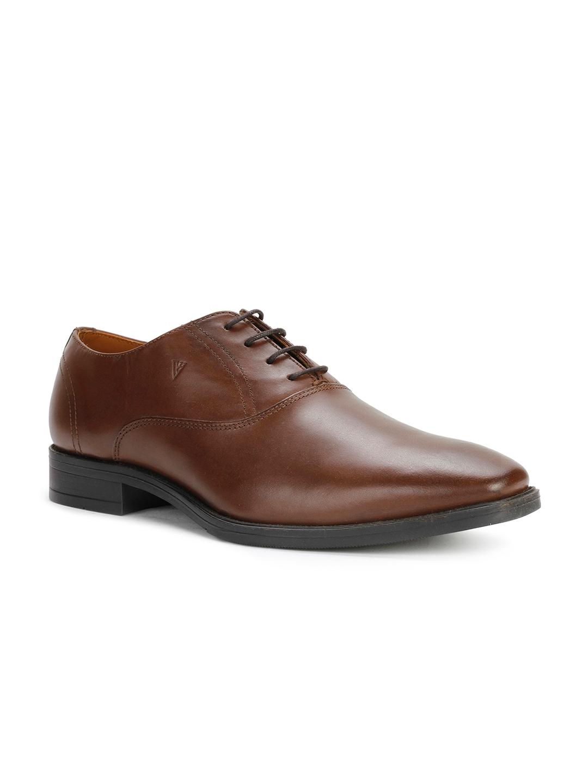 Buy Van Heusen Men Brown Formal Leather Oxford Shoes - Formal Shoes ... 8a172423f