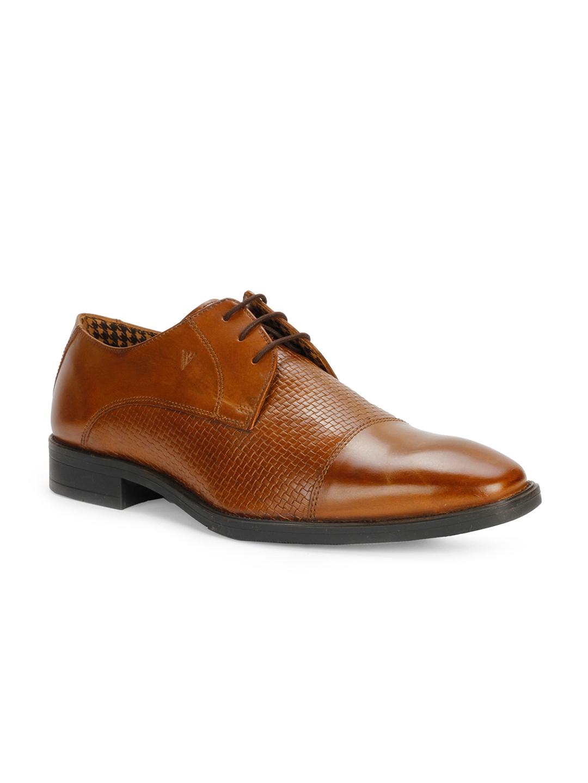 30166f15ef Buy Van Heusen Men Brown Formal Leather Derby Shoes - Formal Shoes ...
