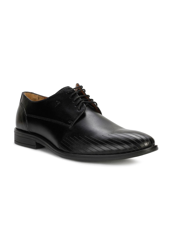 122618d624 Buy Van Heusen Men Black Formal Leather Derby Shoes - Formal Shoes ...