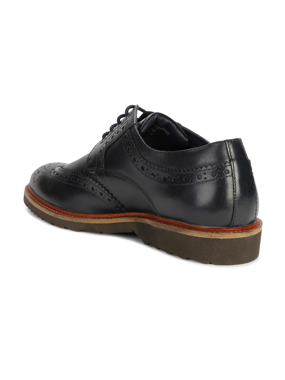 27cad46357b Buy Van Heusen Men Blue Leather Brogues - Casual Shoes for Men ...