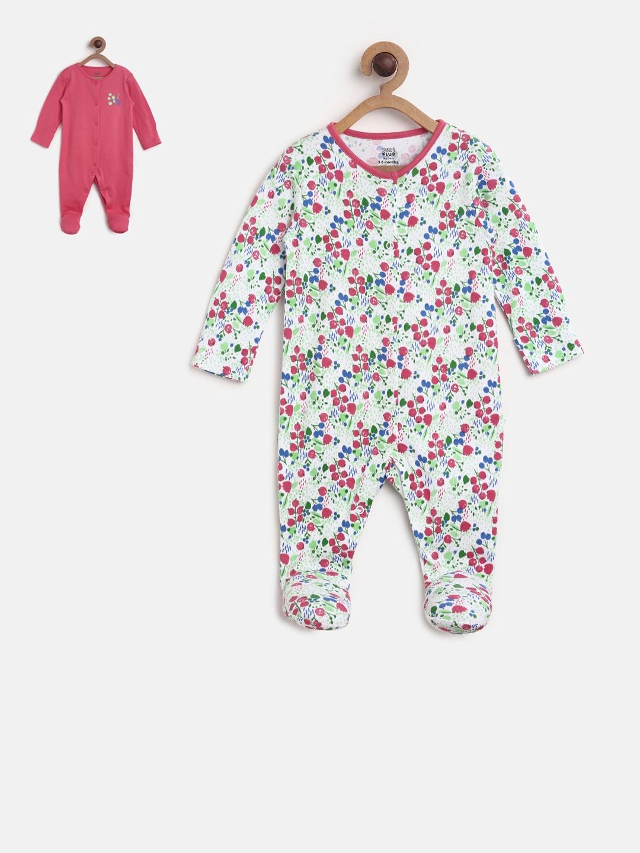 84823cdc1439 Buy MINI KLUB Kids Girls Pack Of 2 Sleepsuit - Sleepsuit for Girls ...