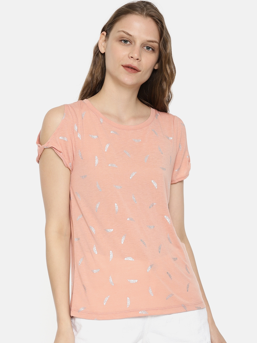 5b6e81c54feec6 Buy ONLY Women Pink Printed Top - Tops for Women 4424535