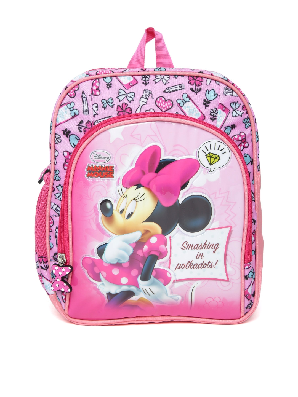 da4739bcda3 Buy YK Disney Girls Pink Minnie Mouse Print Backpack - Backpacks for ...