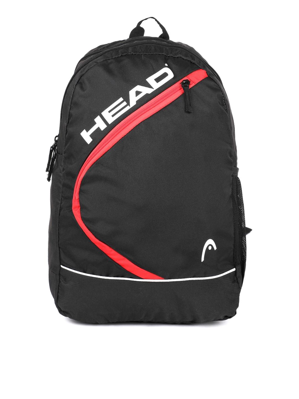 Head Unisex Black Printed Backpack