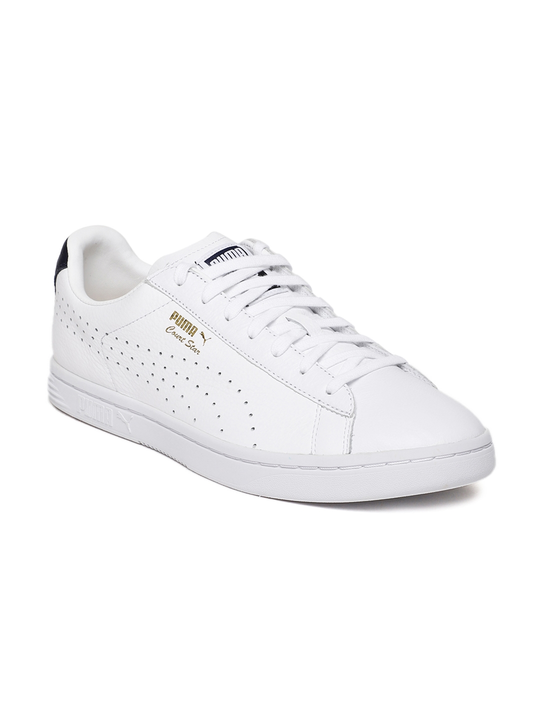 Buy Puma Men White Court Star NM Leather Sneakers - Casual Shoes for ... 05a90c347
