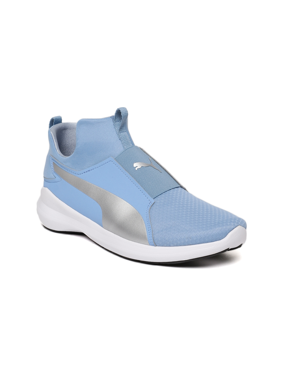 6dbab505f6ddc8 Buy Puma Women Blue Rebel Mid Sneakers - Casual Shoes for Women ...