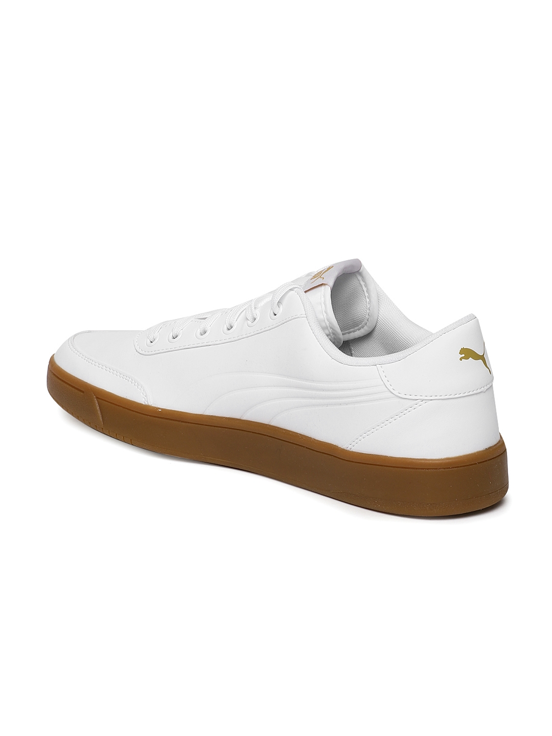 71e6d9af27f2 Buy Puma Men White Court Breaker L Mono Sneakers - Casual Shoes for ...