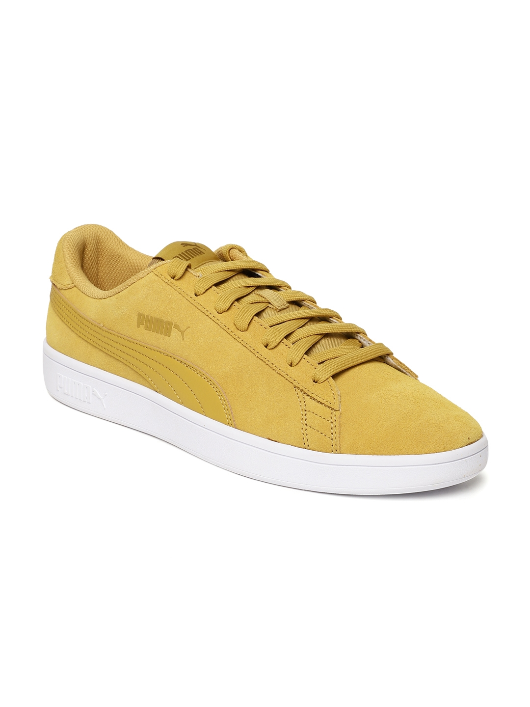 6f0482713435 Buy Puma Men Mustard Yellow Smash V2 Casual Shoes - Casual Shoes for ...