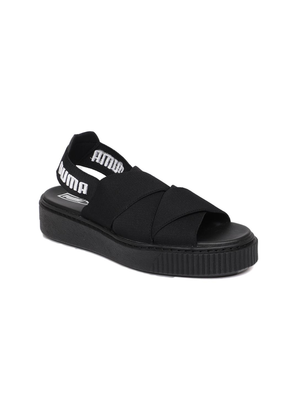 febceba7ba8 ... closeout buy puma women black solid platform sandals heels for women  ffbb0 b1a2d