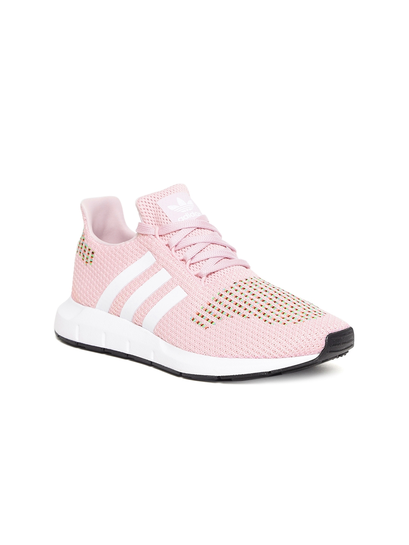 a84640818ed47 Buy ADIDAS Originals Women Pink Swift Run Woven Design Sneakers ...