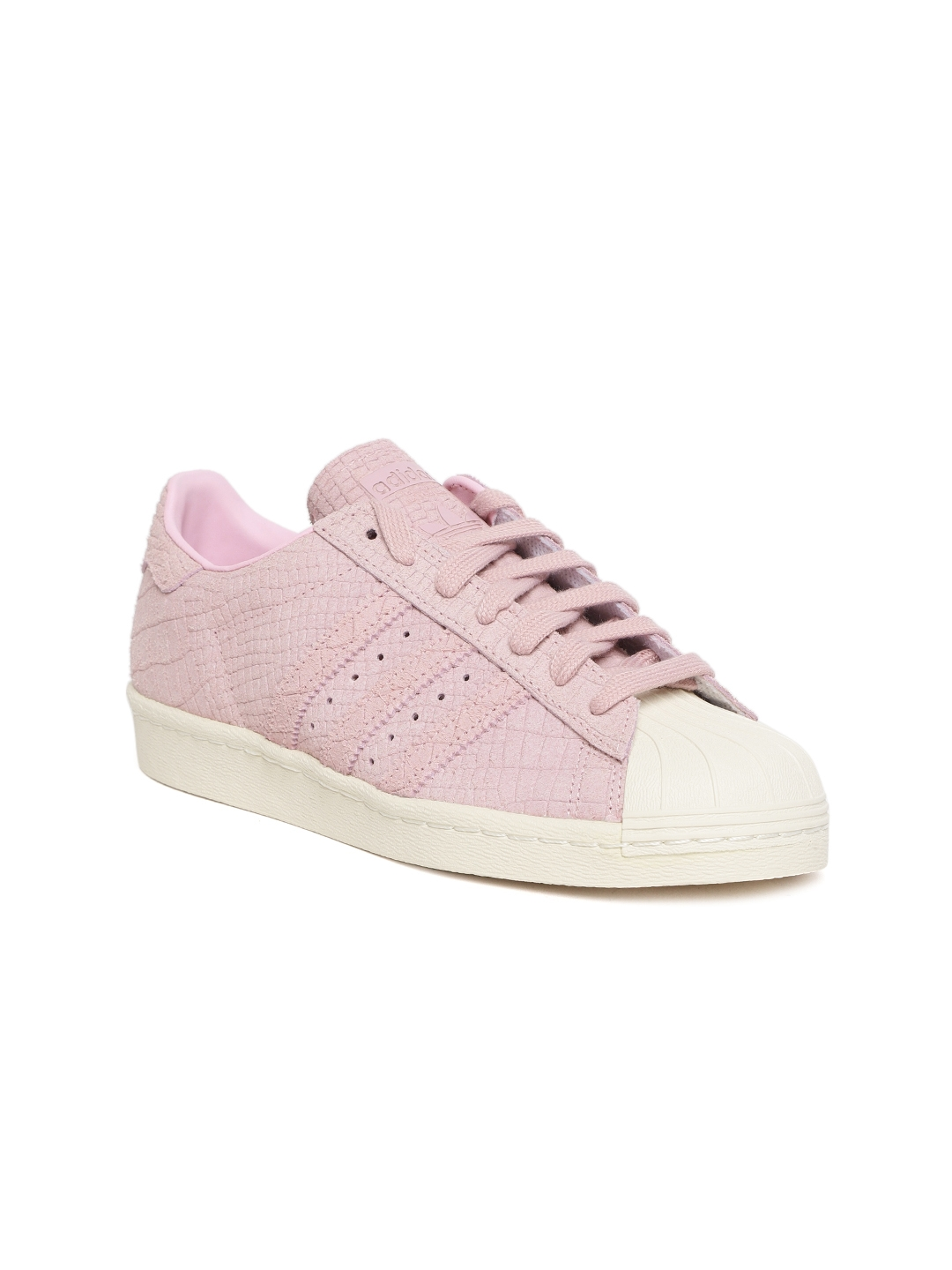 newest collection ba36a 942ea ADIDAS Originals Women Pink Superstar 80S Leather Sneakers