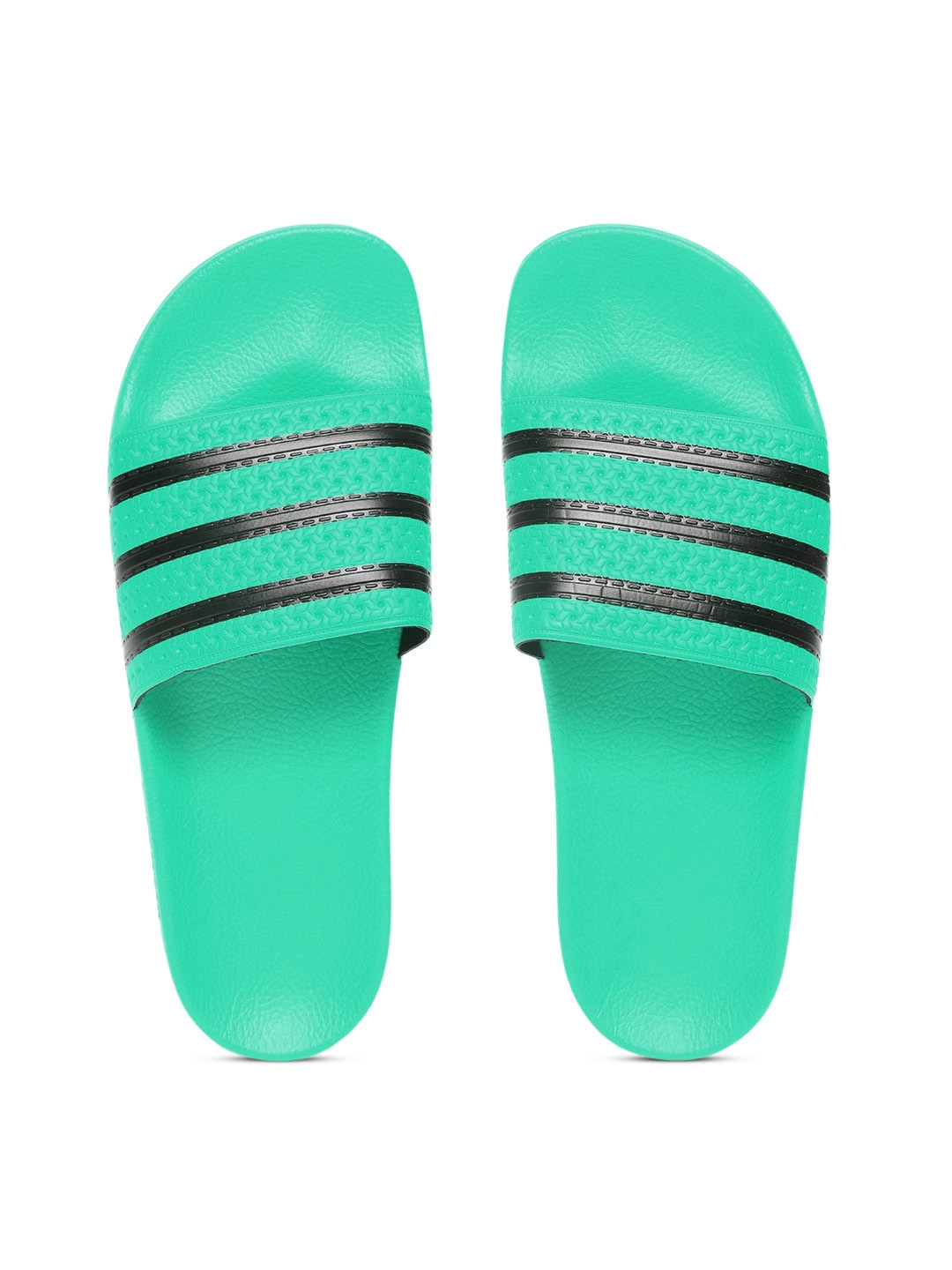acf3a28cc8741 Buy ADIDAS Originals Men Green   Black ADILETTE Striped Sliders ...