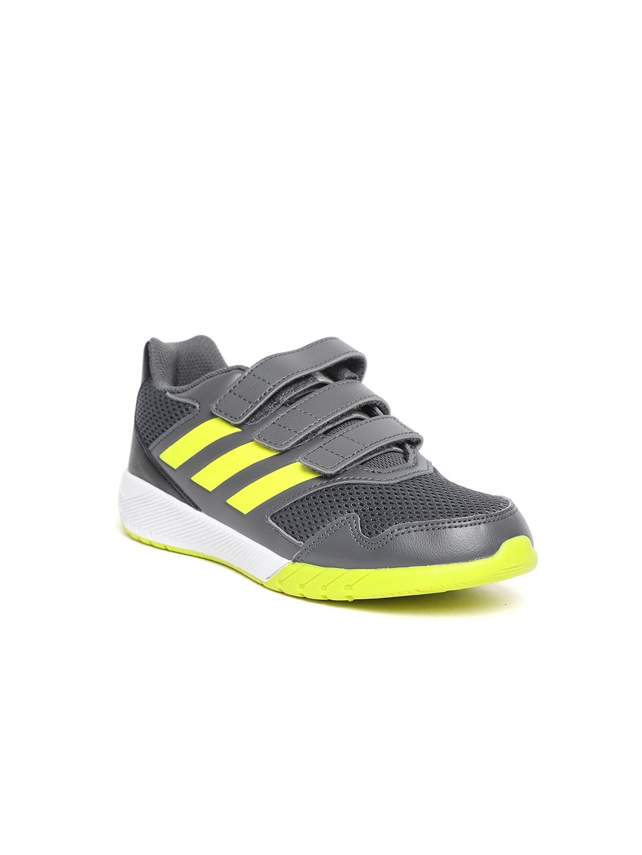 new concept 29836 da0c8 Adidas Unisex Grey  Yellow ALTARUN CF Running Shoes