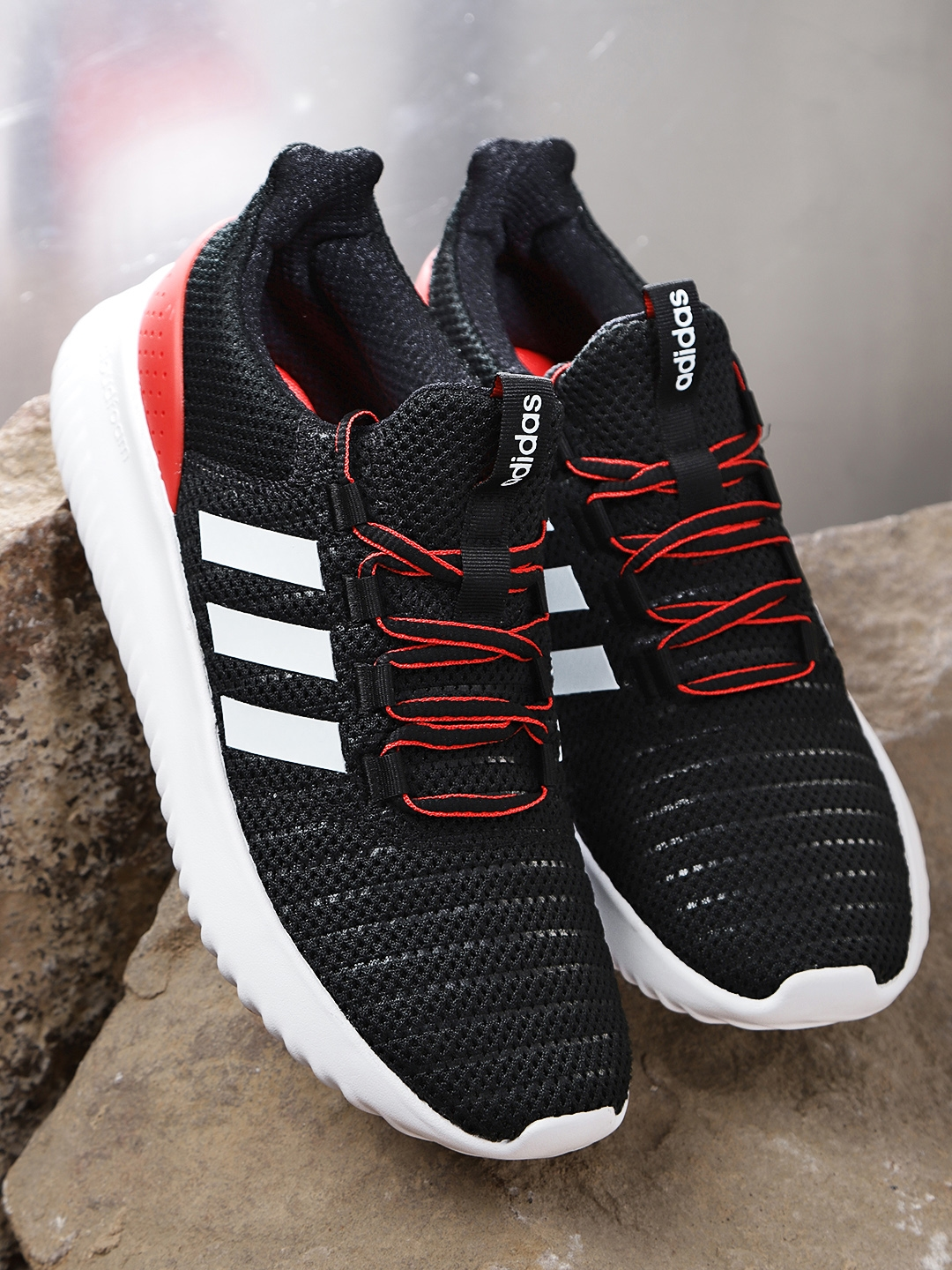 ff6223c946 Buy ADIDAS Men Back & Red Cloudfoam Ulimate Running Shoes - Sports ...