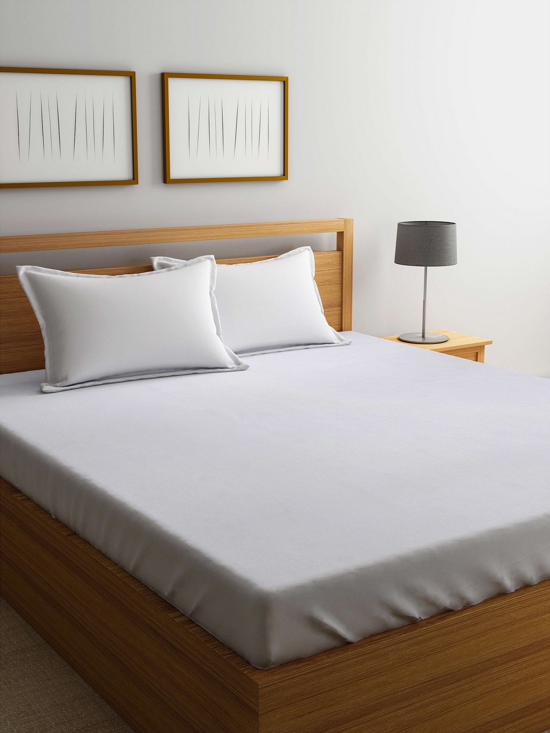 Buy Cortina White Double Bed Waterproof Mattress Protector