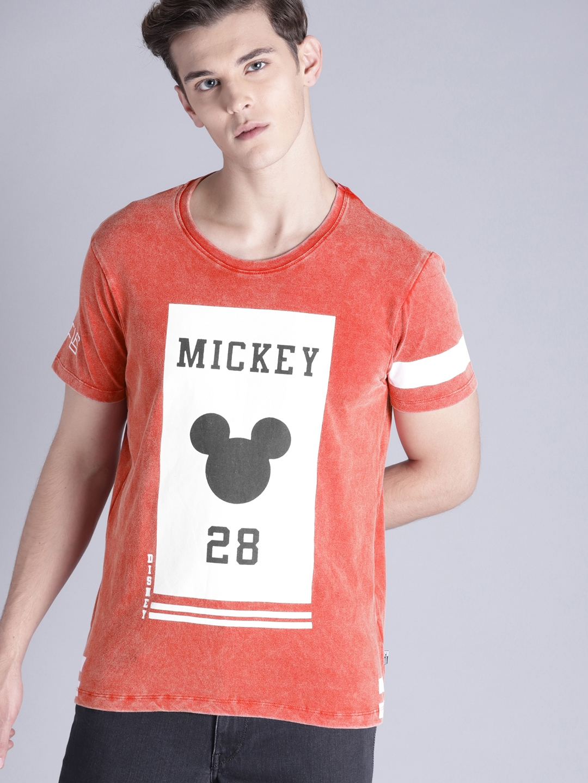 c76b1d7c Buy Kook N Keech Disney Men Red Printed Round Neck T Shirt - Tshirts ...