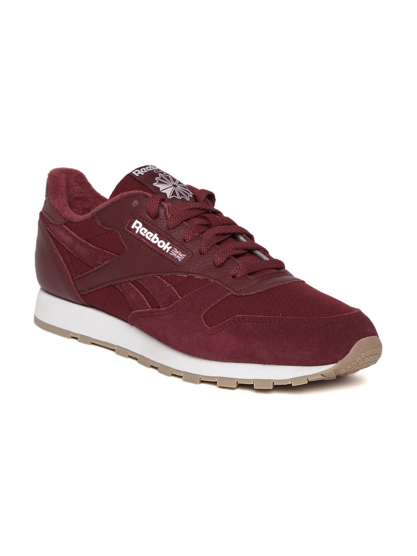 54fab4cf326 Buy Reebok Classic Men Maroon Classic Leather ESTL Sneakers - Casual ...