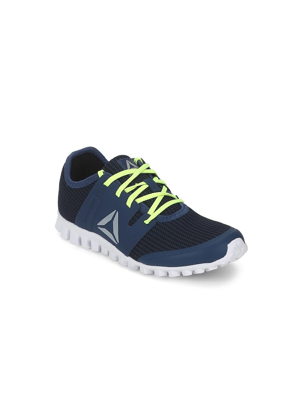 ae2579df6d01 Buy Reebok Boys Navy   Black Twist Run JR Running Shoes - Sports ...