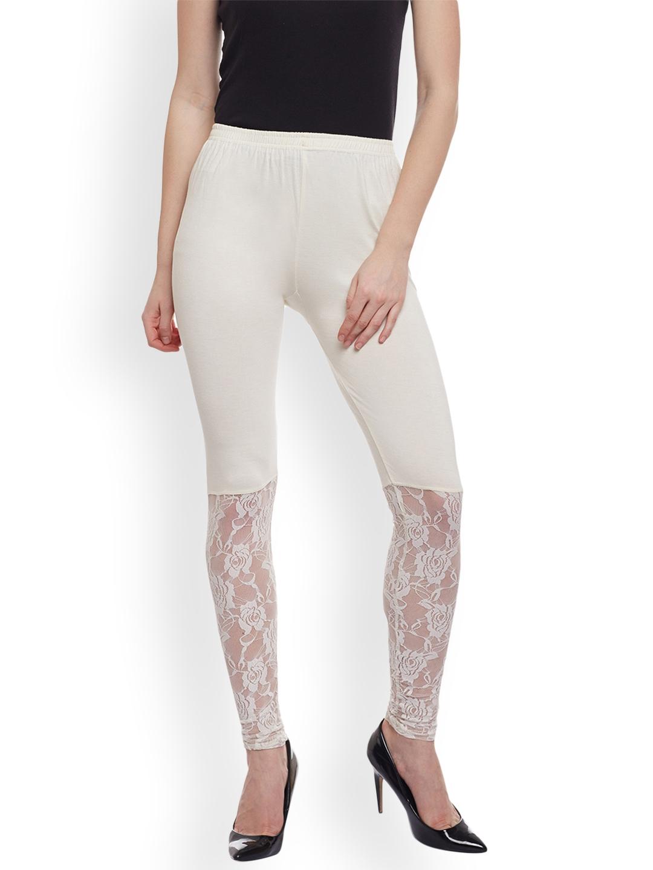 d1e5d7b969f06 Buy Castle White Half Net Viscose Legging - Leggings for Women ...
