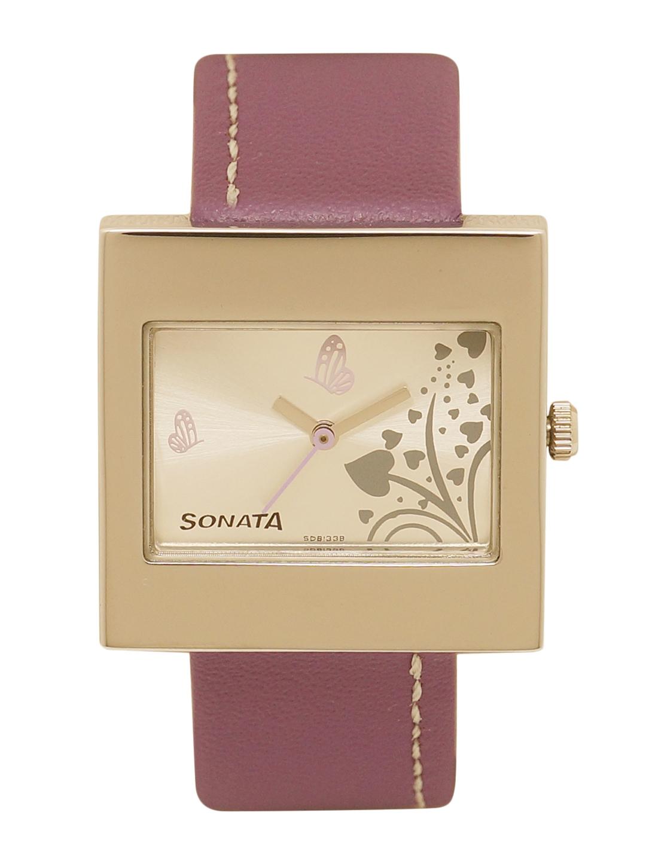 Sonata Women Gold Toned Analogue Watch NG8965SL02AC
