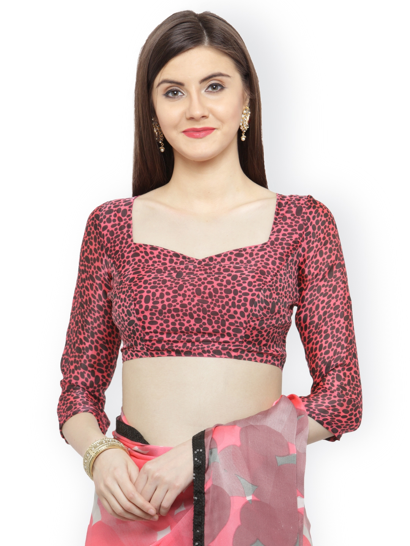 78e6f9354e Buy Shaily Pink & White Satin Embellished Saree - Sarees for Women ...