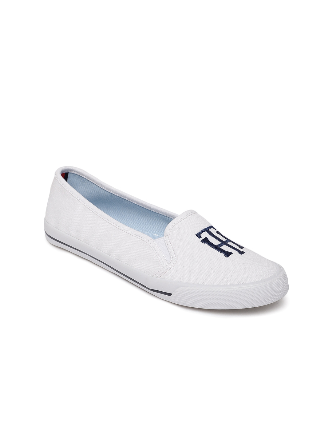 3bb6f56b6d Buy Tommy Hilfiger Women White Printed Sneakers - Casual Shoes for ...
