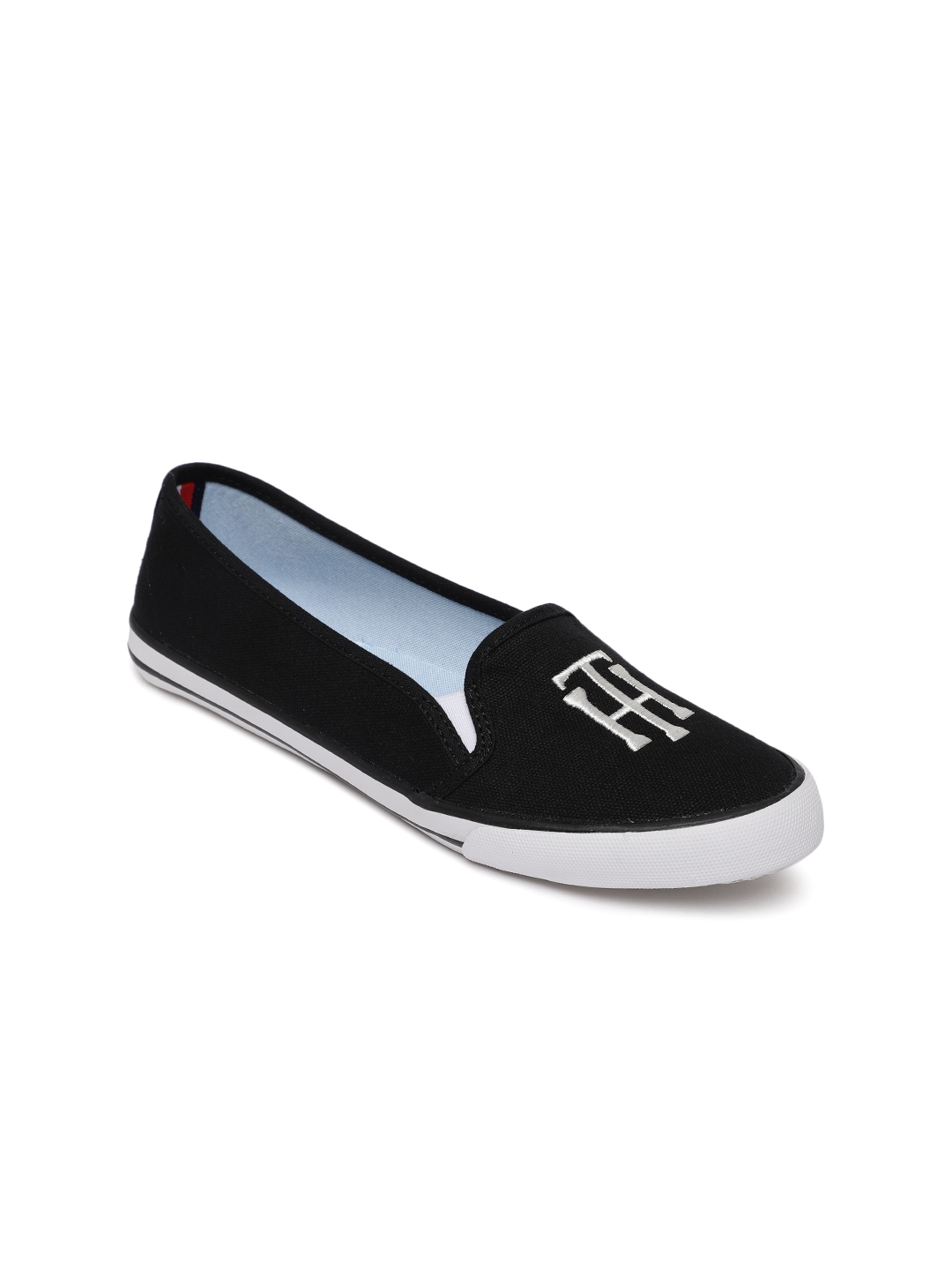 0b9e30719 Buy Tommy Hilfiger Women Black Blossia Slip On Sneakers - Casual ...