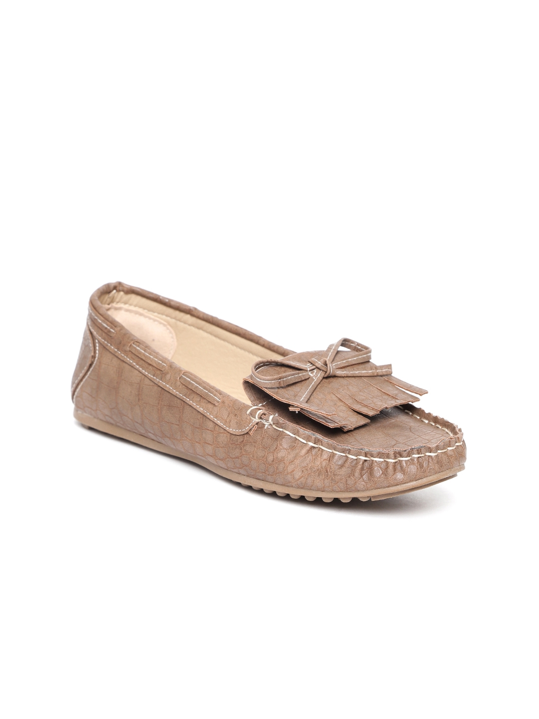 badb8b7cc Buy Catwalk Women Beige Croc Textured Loafers - Casual Shoes for ...