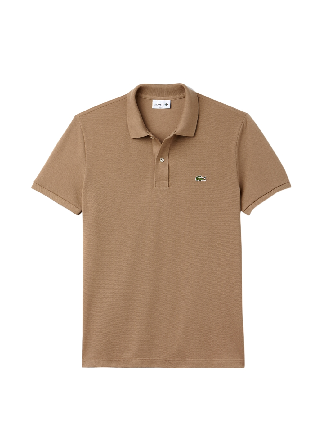 88c436d205 Lacoste Men Beige Solid Polo Collar T-shirt