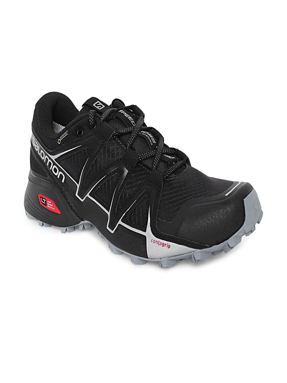 Buy Salomon Men Black Speedcross VARIO 2 GTX Phantom Running Shoes ... 5bf2d007dc2