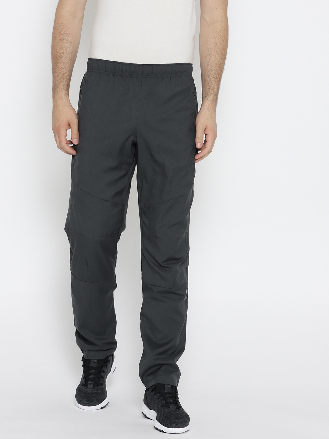 be5a312ebfaf Buy Reebok Men Charcoal Grey Fitness Woven Track Pants - Track Pants ...