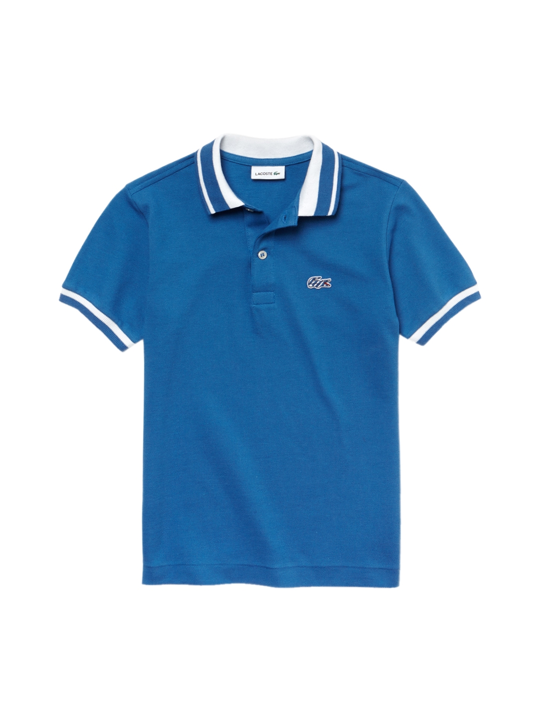 7ade557cf Buy Lacoste Boys Blue Candy Striped Cotton Polo Shirt - Tshirts for ...