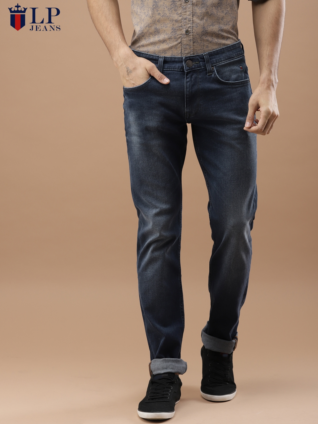 9b0aa325311 Louis Philippe Jeans Men Blue Slim Fit Low-Rise Clean Look Stretchable Jeans