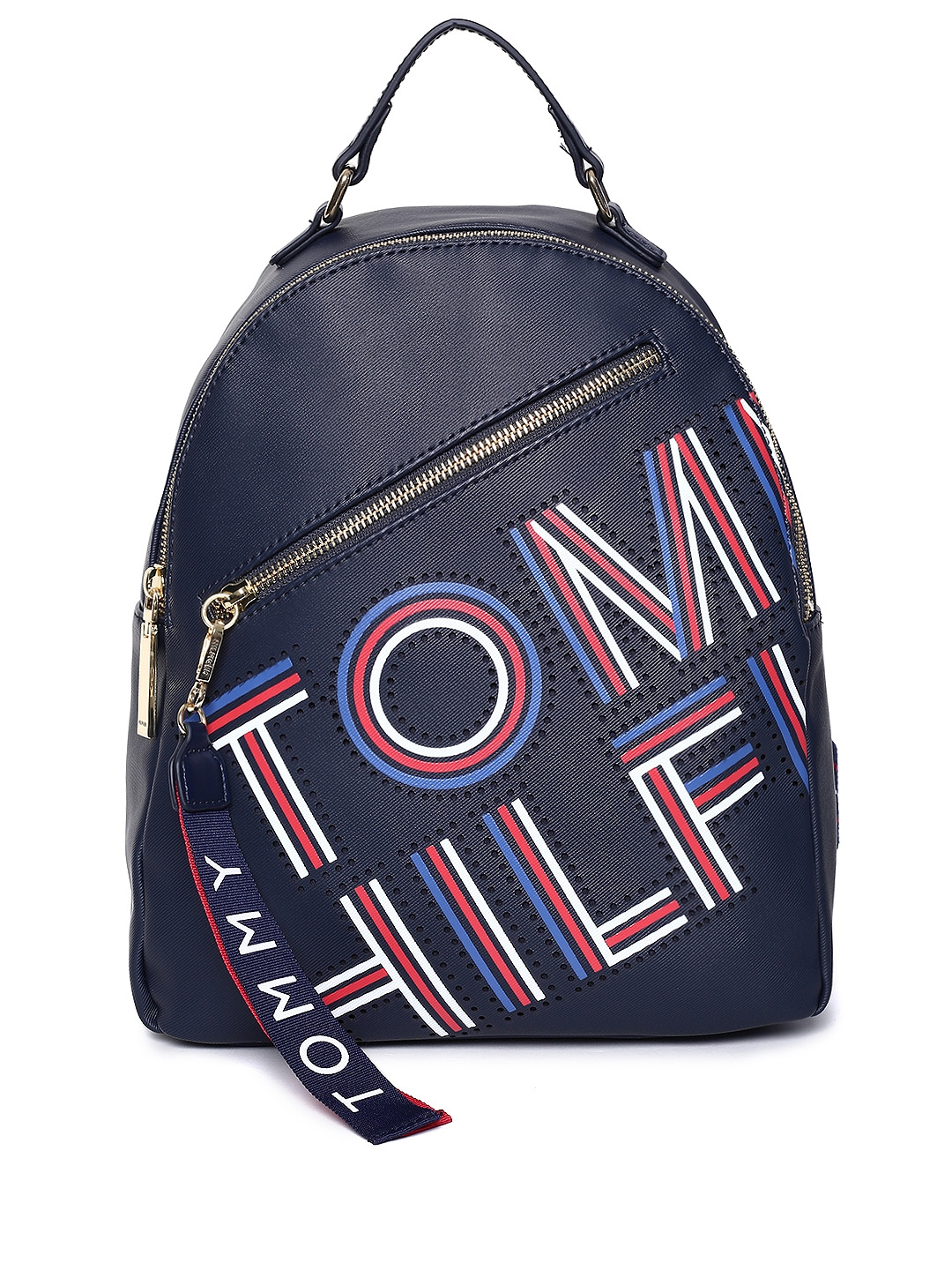 4d9f1cddc95 Buy Tommy Hilfiger Women Navy Blue Brand Logo Backpack - Backpacks ...