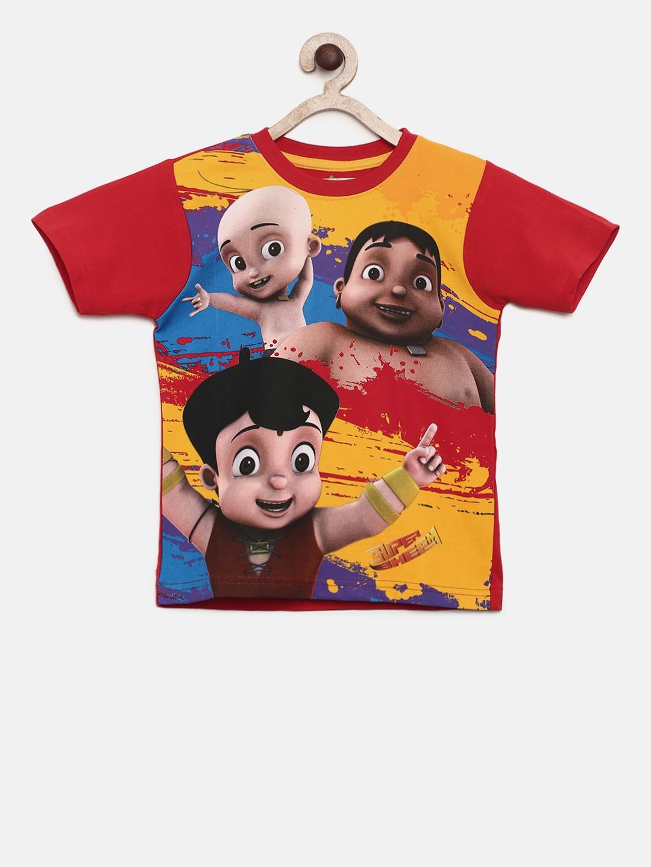 790d927cd Buy Chhota Bheem Boys Multicoloured Printed Round Neck T Shirt ...