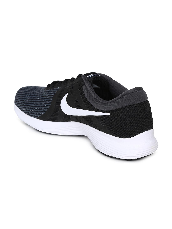 brand new 8f1a4 39ebf Nike Men Black   White REVOLUTION 4 Running Shoe