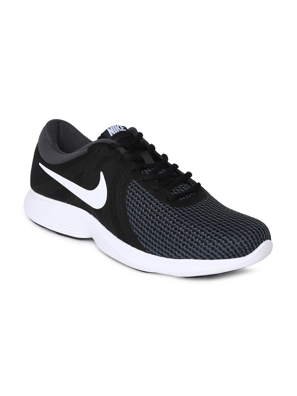 Leo un libro explotar Dinamarca  Buy Nike Men Black & White REVOLUTION 4 Running Shoe - Sports Shoes for Men  4698763 | Myntra