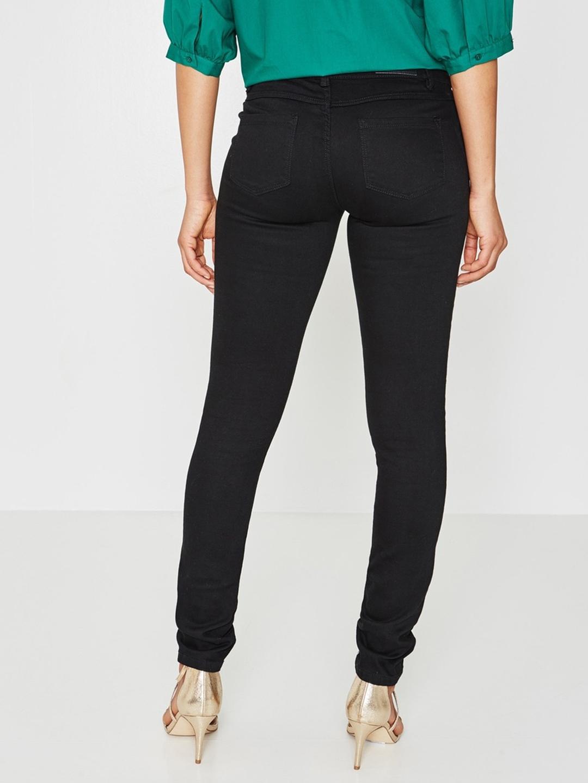 1eec3d8b152b Buy Promod Women Black Gaspard Skinny Fit Low Rise Clean Look ...