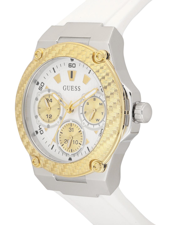 28b51bbdd Buy GUESS Women White & Gold Toned Analogue Watch W1094L1 - Watches ...
