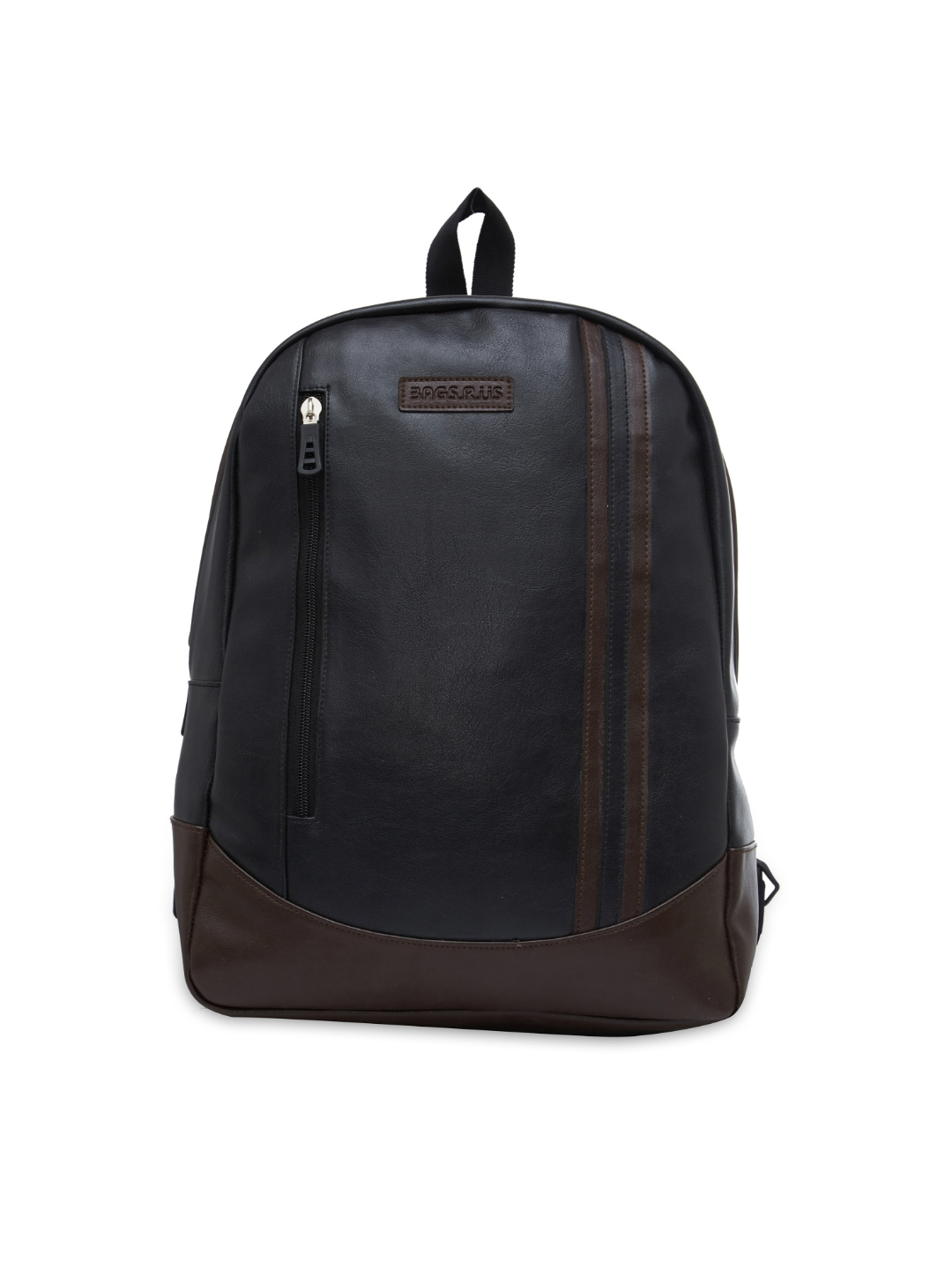 Bags.R.us Unisex Brown   Black 18 L Solid Backpack