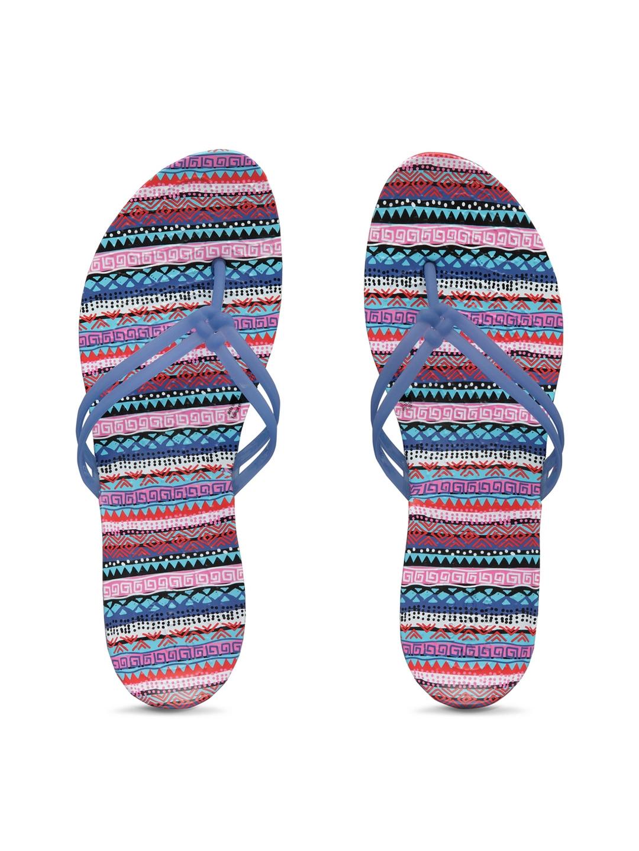 a8d4d7ece4a7 Buy Crocs Women Blue   Multicoloured Printed Thong Flip Flops - Flip ...