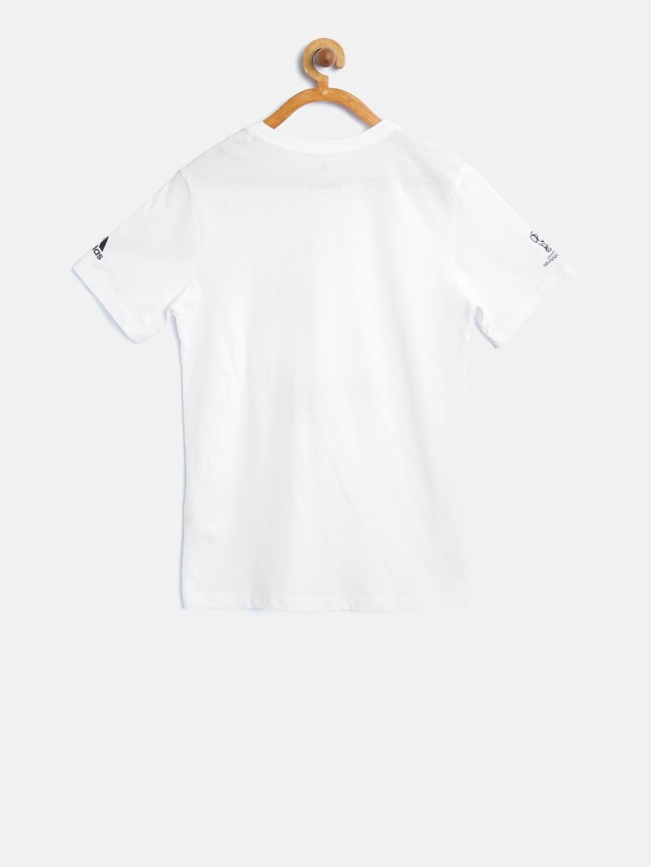 106295b46 Buy ADIDAS Boys White World Cup Mascot Print Round Neck T Shirt ...