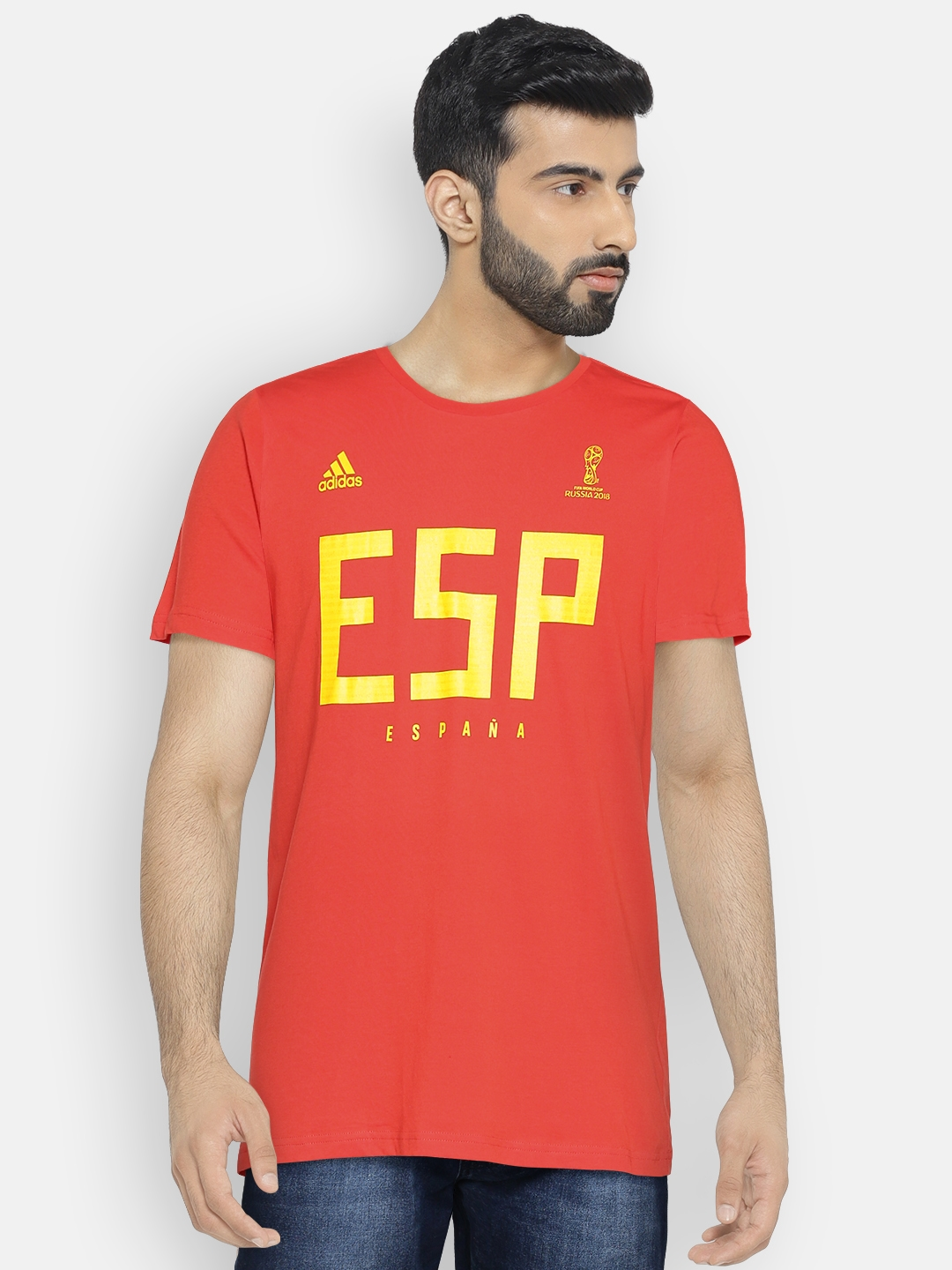 c02b384902b Buy ADIDAS Men Red Spain MNS Printed Football T Shirt - Tshirts for ...