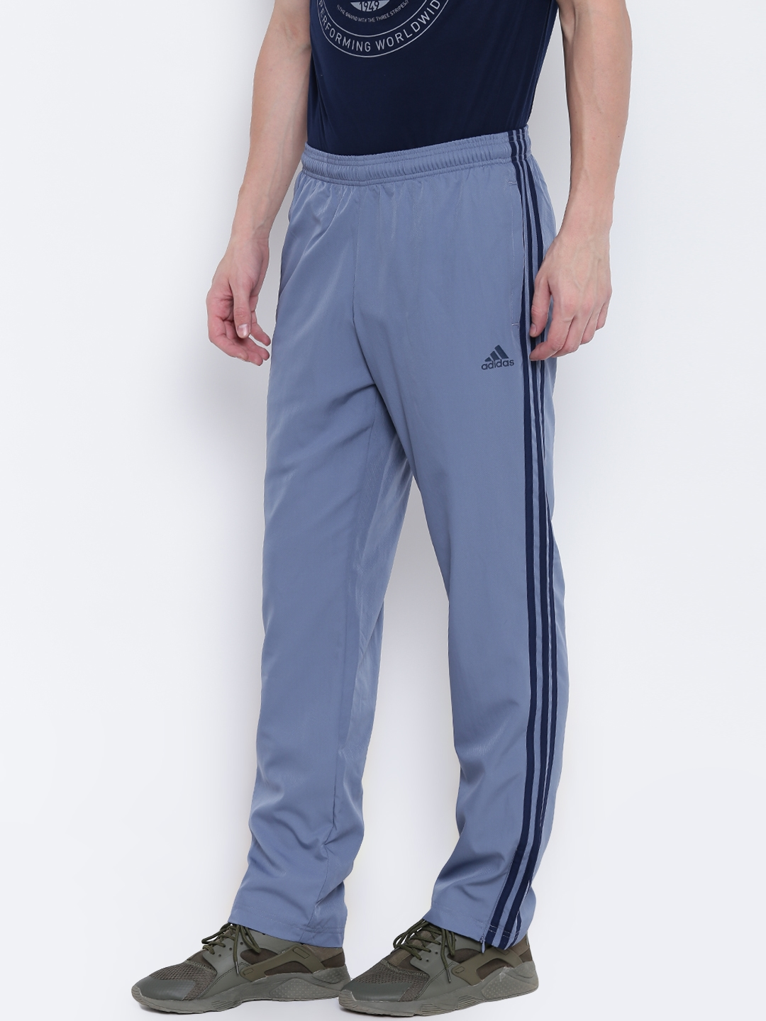 0992d9e0070d Buy ADIDAS Men Grey Essential 3 Stripes WVN Track Pants - Track ...
