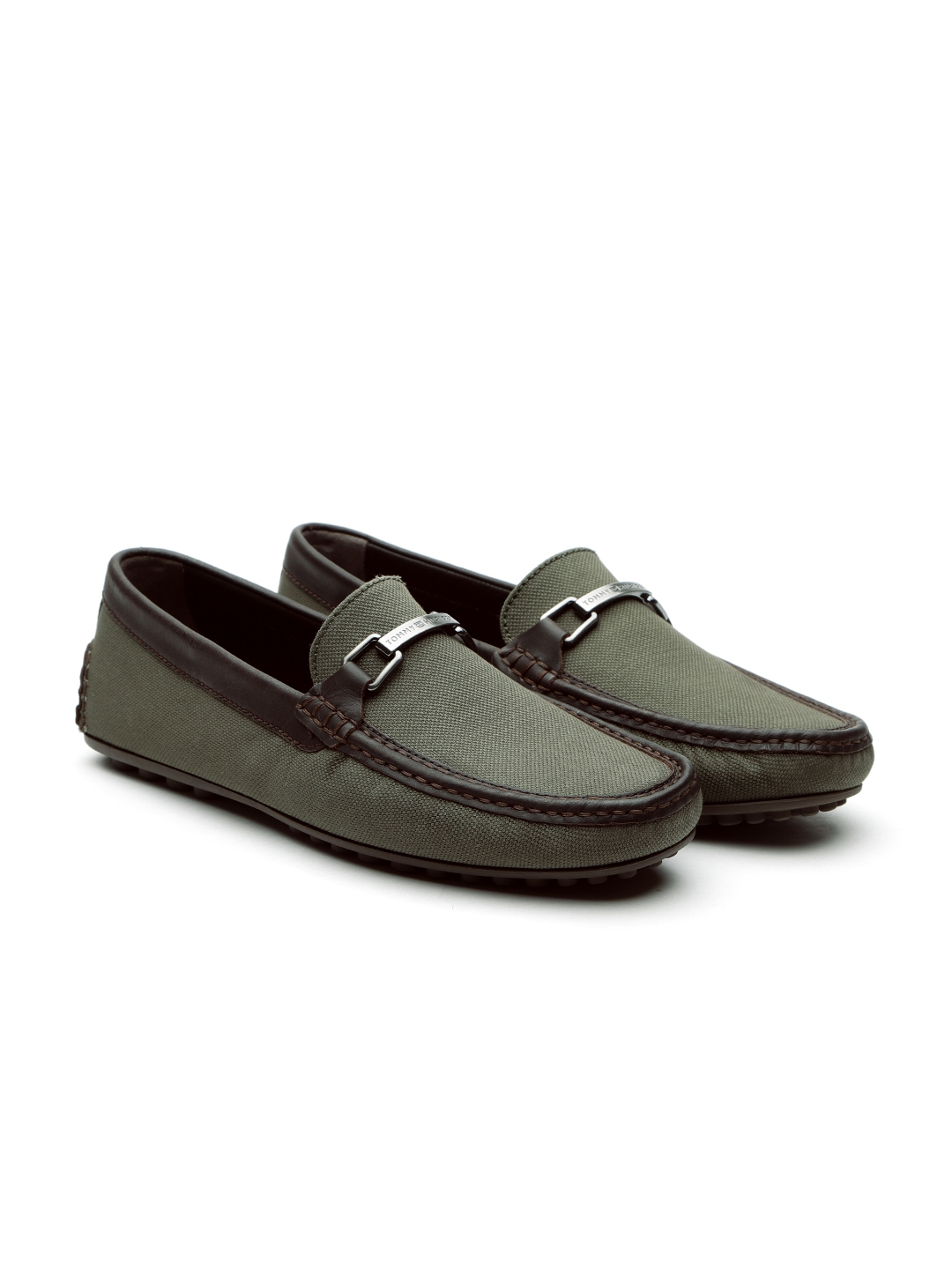 47769215f Buy Tommy Hilfiger Men Olive Green Loafers - Casual Shoes for Men ...