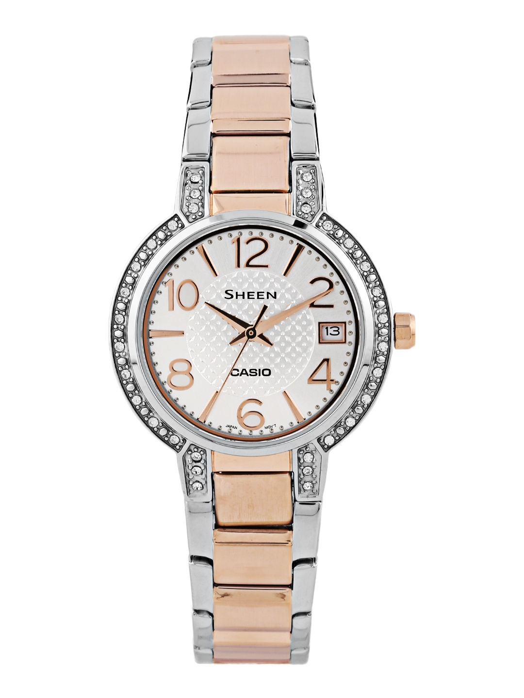 competitive price d6284 7f793 CASIO Sheen Women Silver-Pink Gold Analogue Watch SHE-4804SG-7AUDR SX129