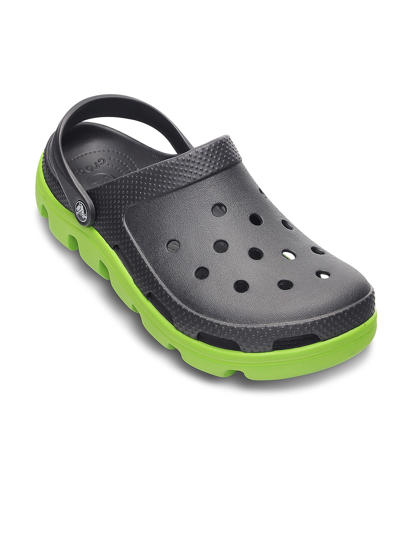 Buy Crocs Unisex Black \u0026 Green Clogs