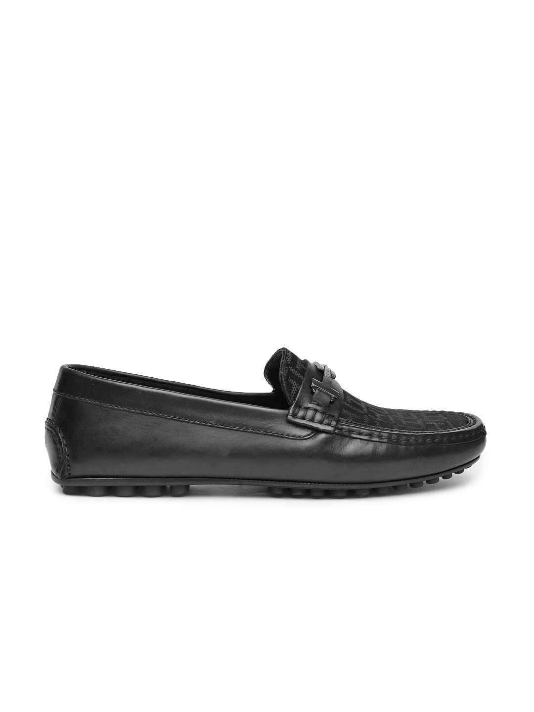 a99e3afd3 Buy Tommy Hilfiger Men Black Leather Loafers - Casual Shoes for Men ...